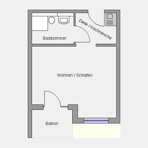 Grundriss A-Wohnung