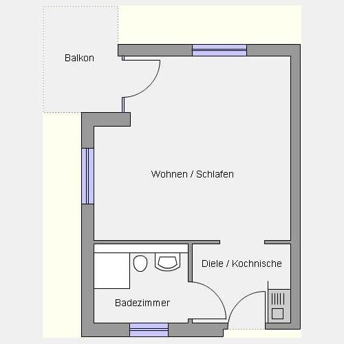 Grundriss E-Wohnung